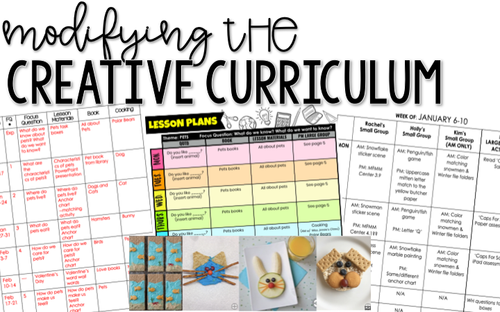 Modifying The Creative Curriculum for my Self Contained Classroom