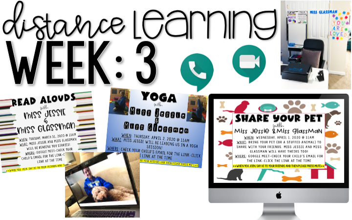 Distance Learning: Week 3