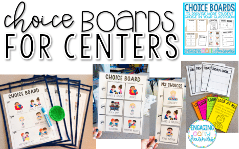 Choice Boards For Centers