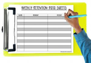 retention data sheets